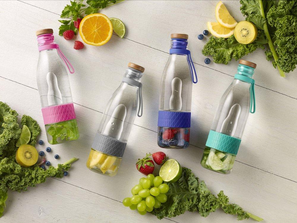 Zest 20oz Infuser Glass Bottle