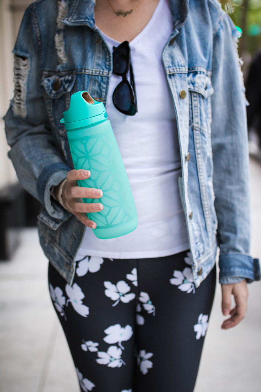 Wren Glass Water Bottle with Straw