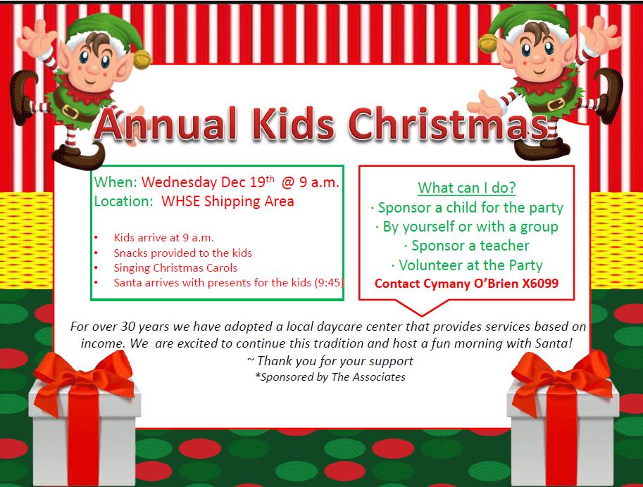 Annual Kids Christmas — The Associates