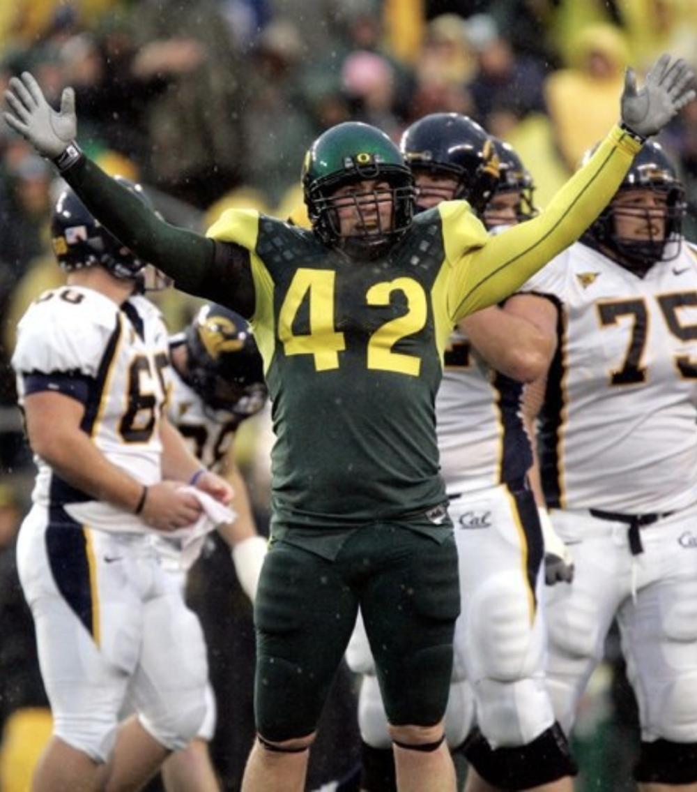 Brent Haberly - - Position - LBCollege - OregonFootball Fact: Brent is a former multi-year starter for the University of Oregon, playing linebacker for the Ducks from 2002-2006. Brent initially walked on after earning all state RB/LB honors at Cottage Grove High School (Cottage Grove, OR).