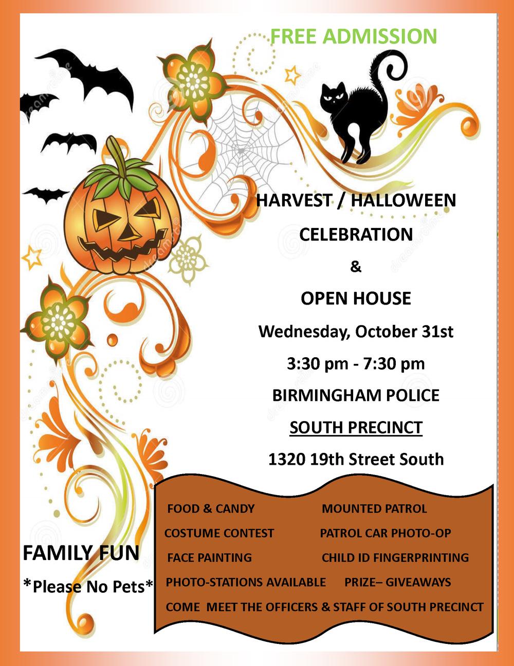2018 South Precinct Halloween Flyer & Open House.png