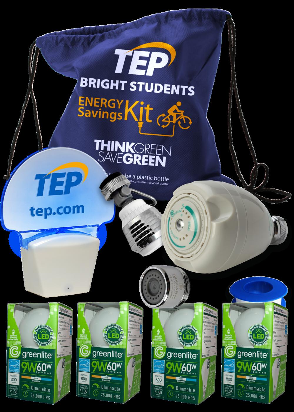 Each student receives an Energy Savings Kit.