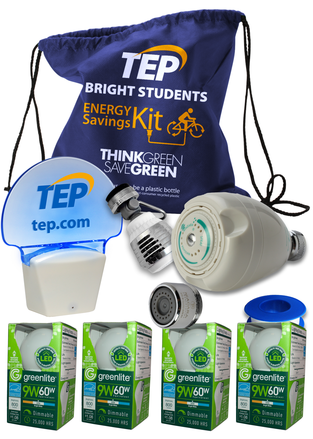 Each student receives an Energy Savings Kit.