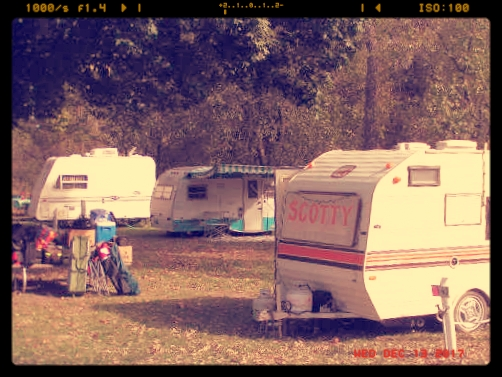 The very first Kamp Kansas. Three very happy campers!