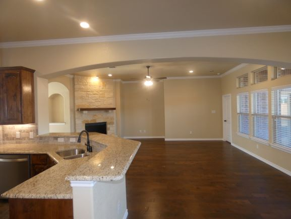 Kitchen Breakfast Bar and Living 901 Elk Ridge Drive .JPG
