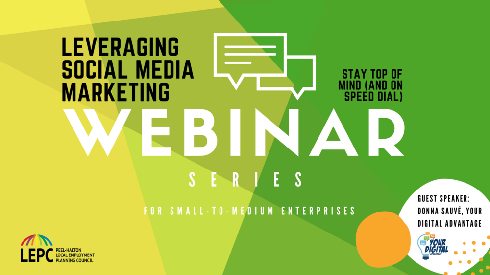 Webinar Series.  - Our webinars cover two key topics, Labour Market Fundamentals (LMI) and Small and Medium Enterprises (SME).