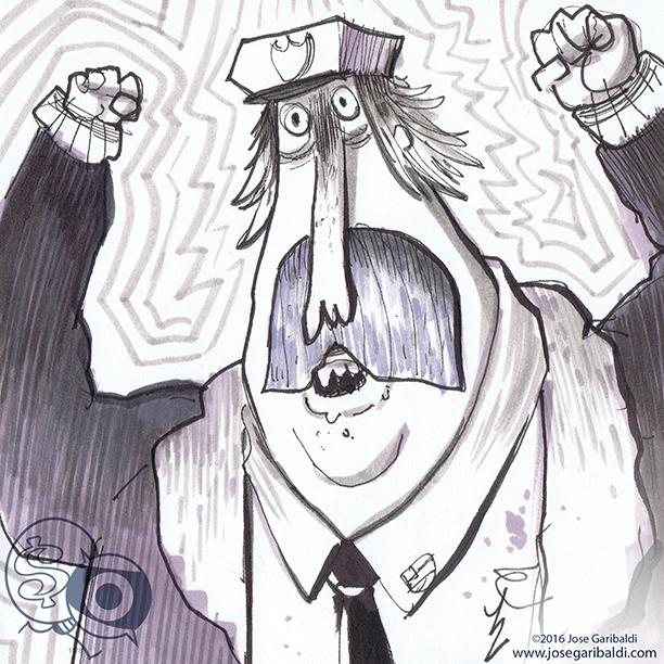 Bob's Big Bingo sketch © 2016 www.josegaribaldi.com