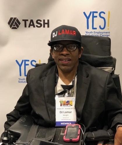 Image of DJ Lamar, a Portland area DJ and self-advocate.