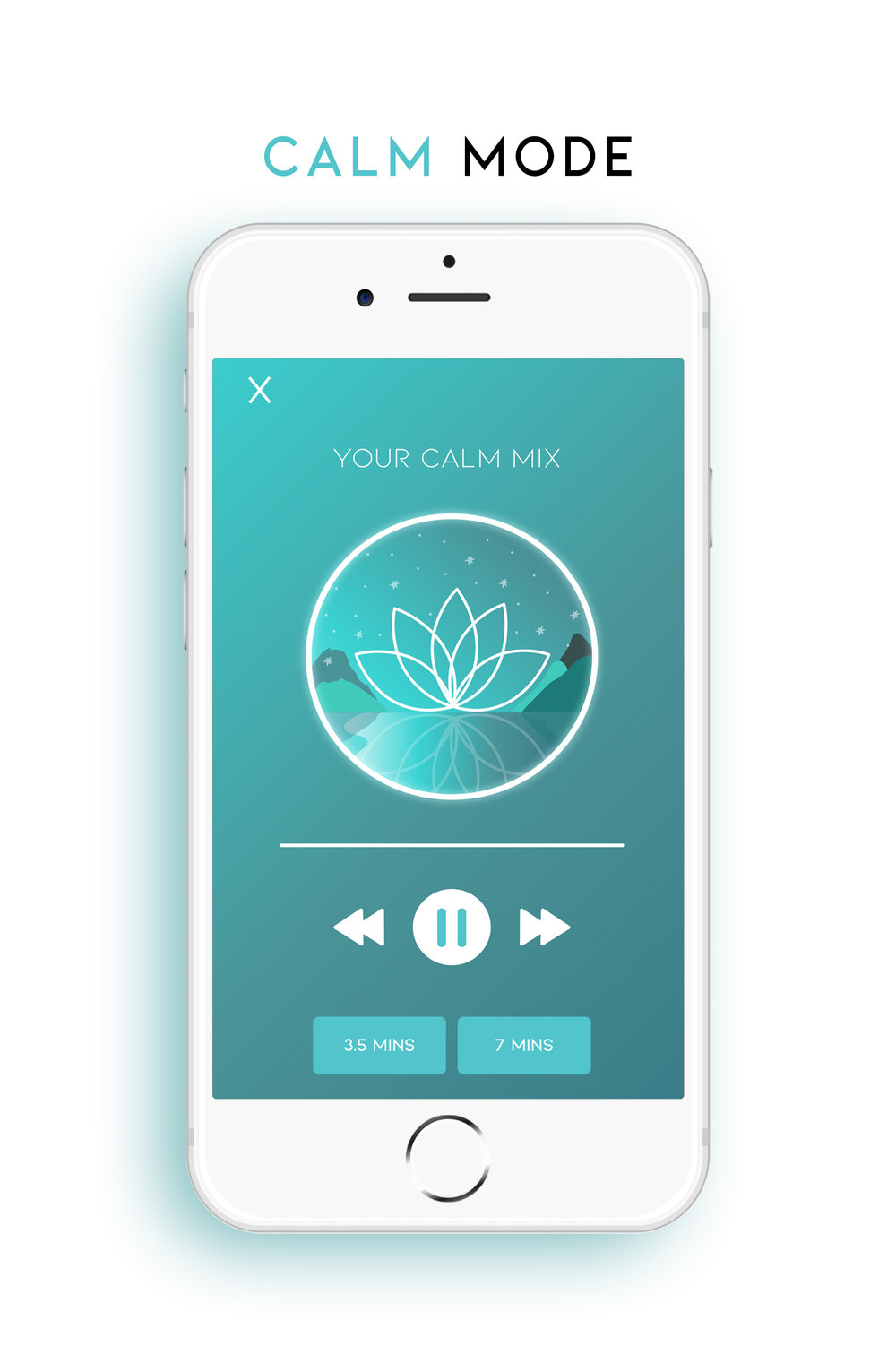 Need a break? - Calm mode gives you an effortless way to escape stress and anxiety. The curated soundscapes lift your spirits as the entrainment tones gently guide your brain to a state of relaxation