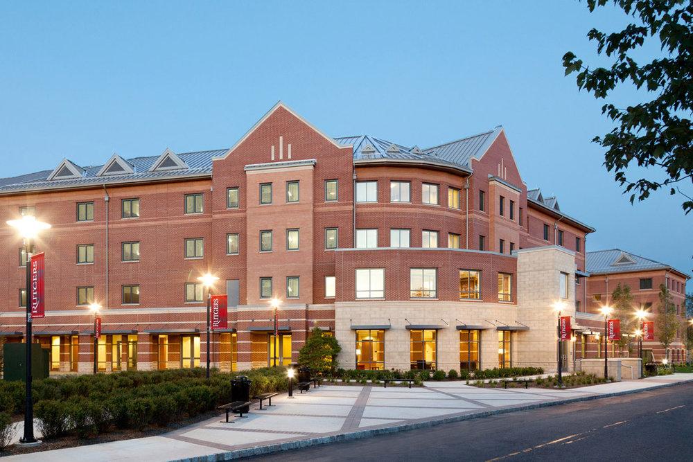 Rutgers University - B.E.S.T. Hall </br><em>Piscataway, New Jersey</em>|residencehalls architecture