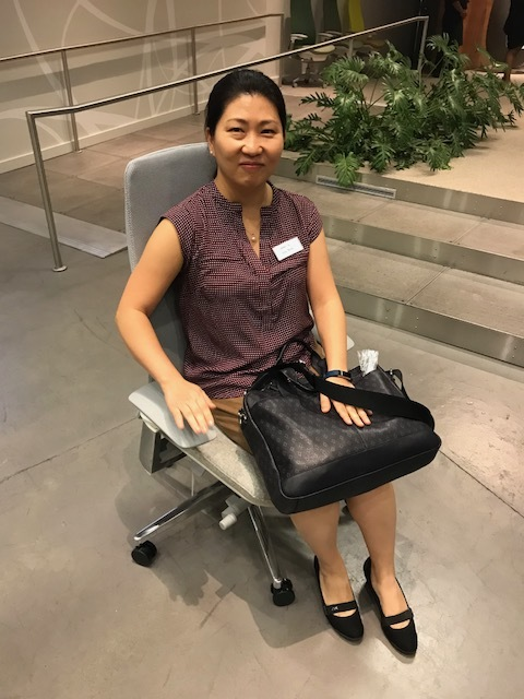 Raffle Winner - Congrats to InSun Yu on her door entry raffle win of Haworth's newest chair model,