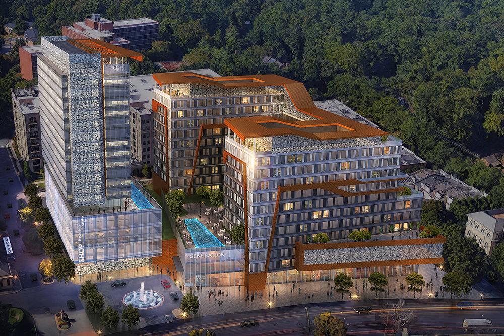 Buckhead Mixed-Use Development</br><em>Atlanta, Georgia</em>|hospitality architecture