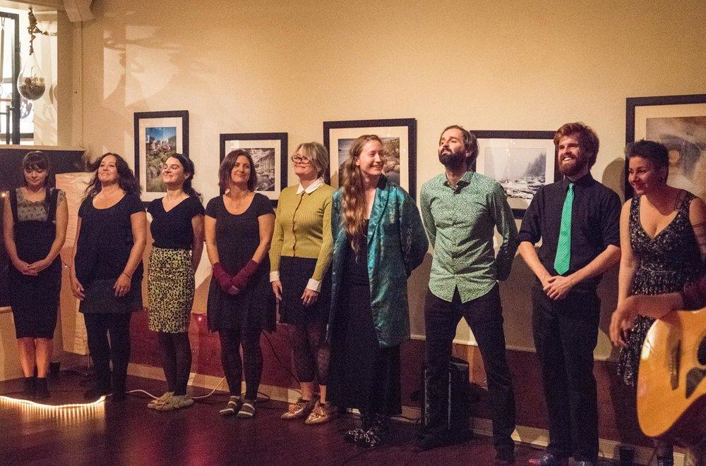 Rain Coast Choir performing at Full Circle Studio for the Wet Winter Showcase, Dec. 9th