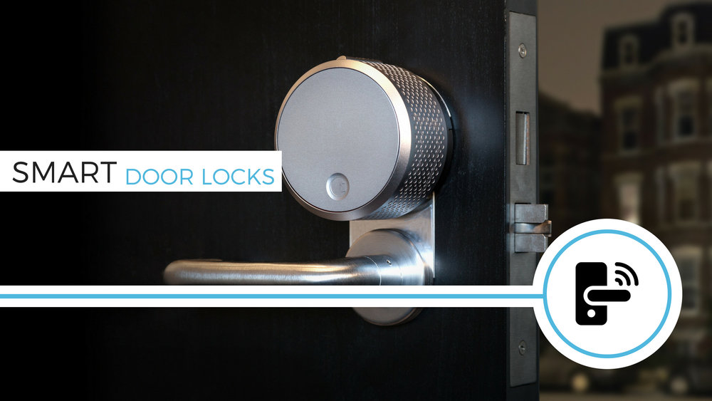 Security and entry - a monitored door lock can give you incredible peace of mind knowing that your home is locked and secure. Never worry about keys again. Period.