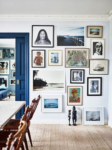 modern gallery wall inspiration    via Domino
