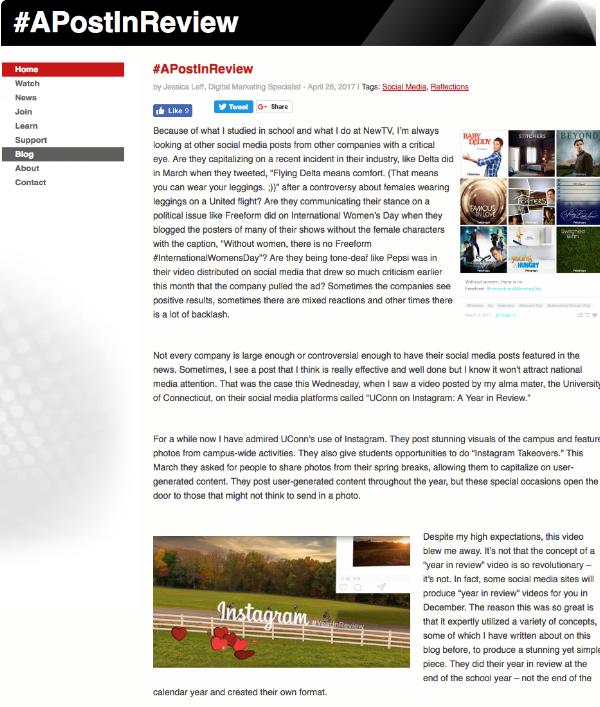 NewTV Long-Form Web Content — Jessica Leff