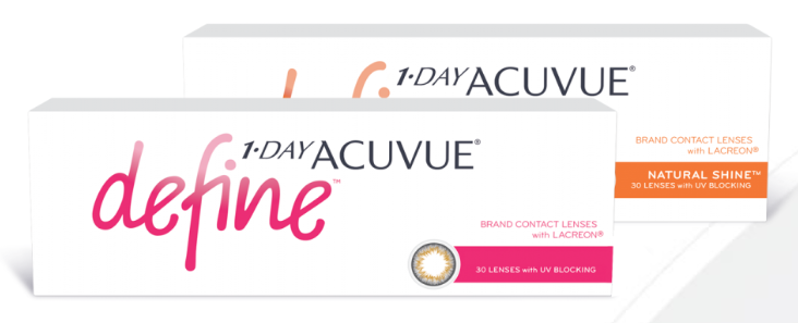 1-Day Acuvue Define Lenses by Johnson & Johnson https://www.acuvue.com/contact-lenses/acuvue-define-1-day