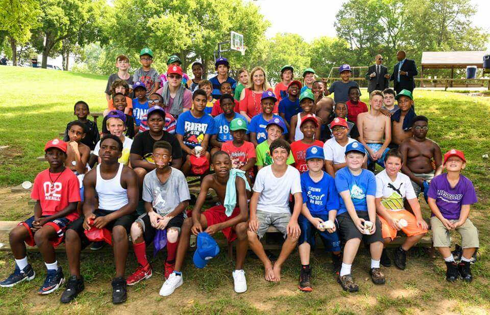 Participants in the Andrew Jackson Youth Camp