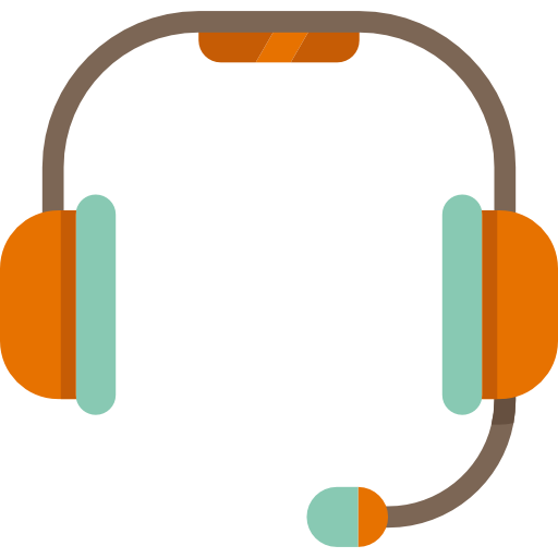 An animated headset, showing what our account managers wear when listening to your needs.