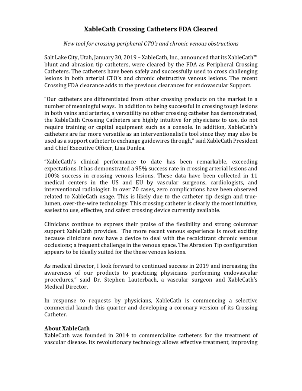 Click for a PDF of the press release