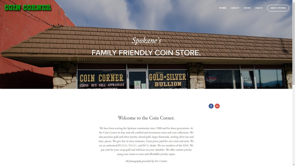 Coin Corner's New Website