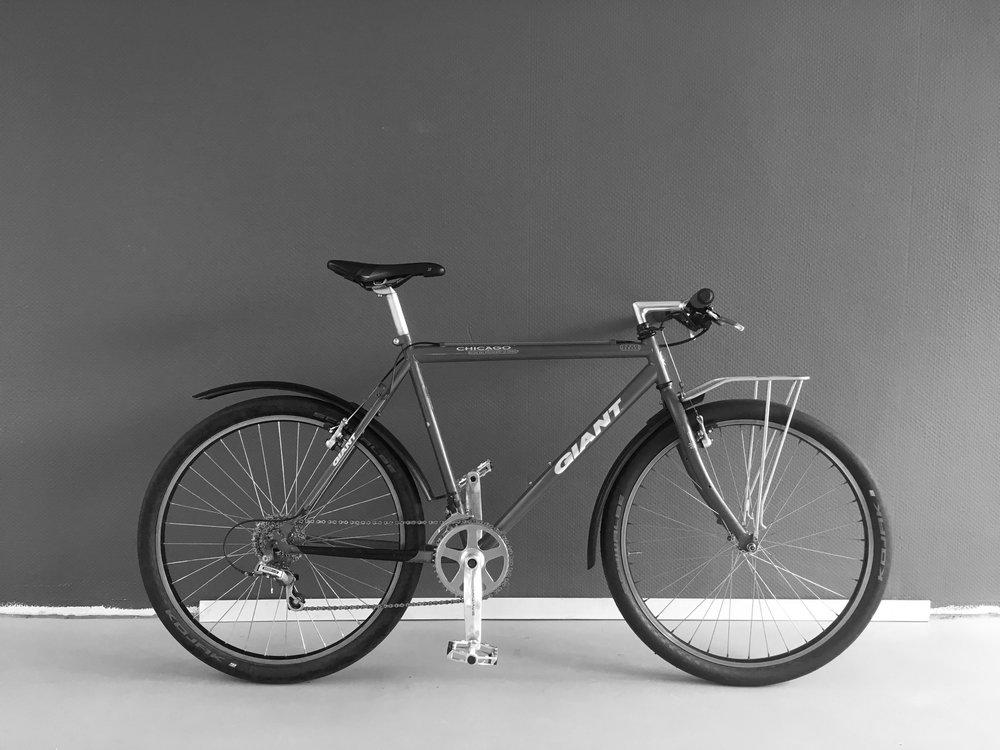 Giant city mtb - SteelMTB size:51 [riders > 175cm]7 speed SunraceCinelli stem, Schwalbe Kojak Tiressold