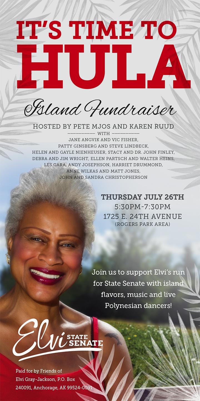 Hula Fundraiser Invite