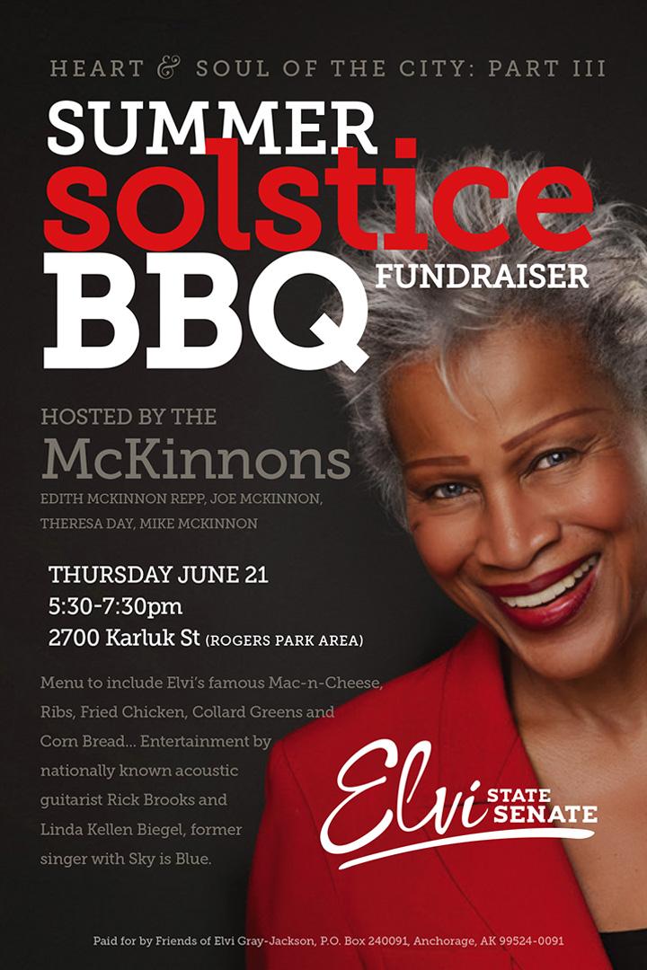 Summer Solstice BBQ Fundraiser Invite