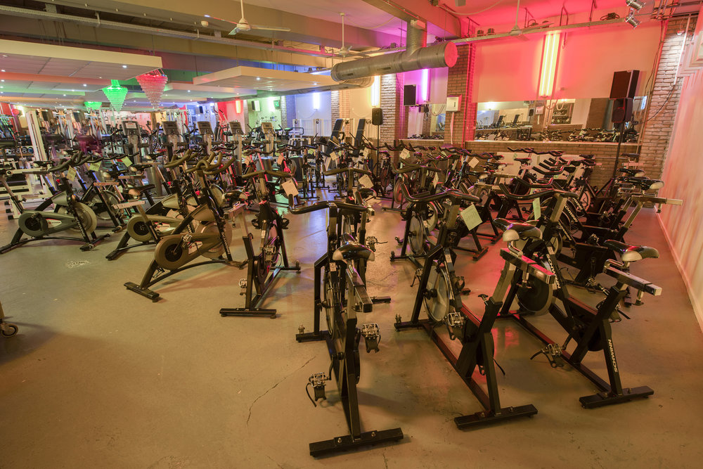 36 spinning bikes - always room in this class