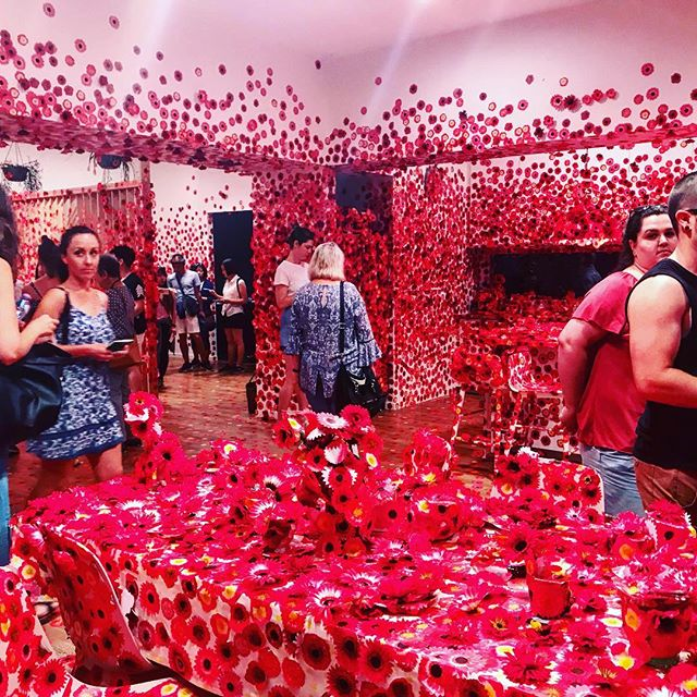 Visited beautiful Melbourne last week. Was blown away by the NVG Triennial and this amazing concept by Yayoi Kusama. Anyone from down that way? I'm jealous! #yayoikusama #nvg #nationalgalleryofvictoria #melbourne #flowerroom #red #redflowers