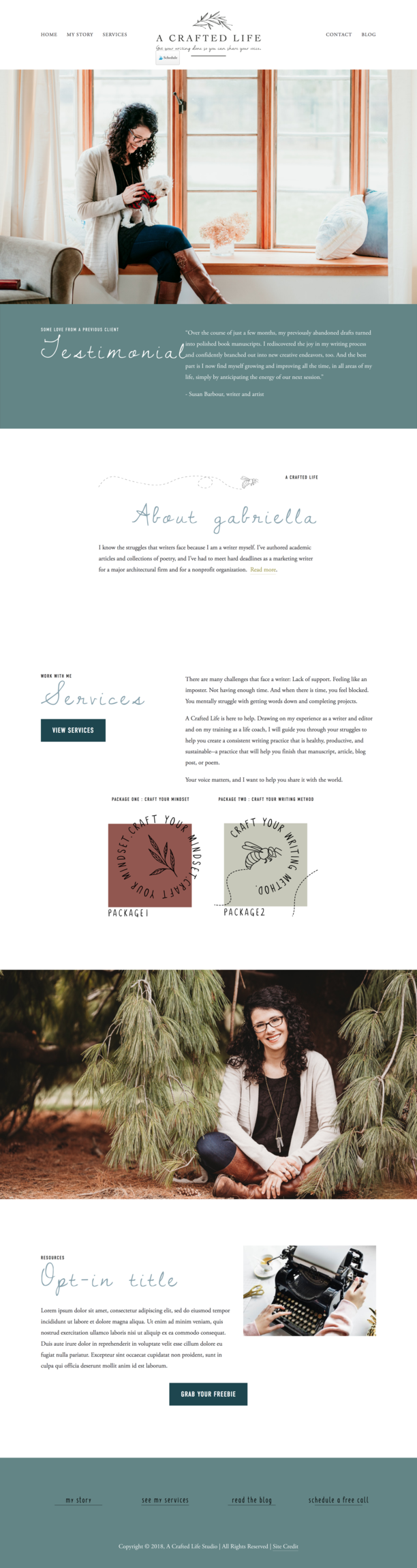 A crafted life web design by Maria Wandiba