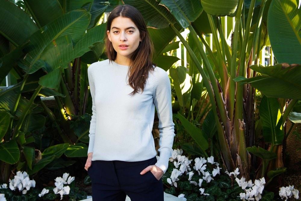 THE COMPTON SWEATER - Our classic Compton sweater, a slim fitting crew neck, comes in two new colors for Spring/Summer 2018, a beautiful pale blue and also pale pink. Plus two of our forever colours that we love for pairing with our summer wardrobe - the heather grey and light camel.