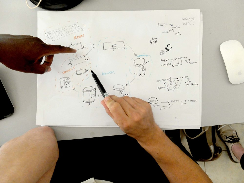 1503-GBE-Lawrence DwB-Thomas DwB-sketching the stove production flow.jpg