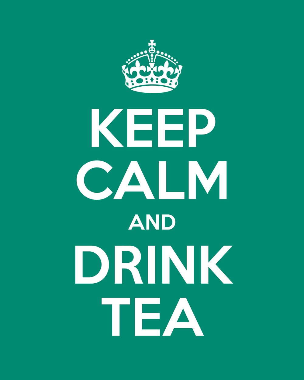- Keep Calm and...Here's a versatile print to personalise as you wish for a work colleague. Picked a tea addict in your secret Santa? Then this print might be for you. Or perhaps your team would appreciate a calming influence on the wall when you're all a bit under the cosh. The possibilities are endless on how you can personalise this design to suit your particular sector...