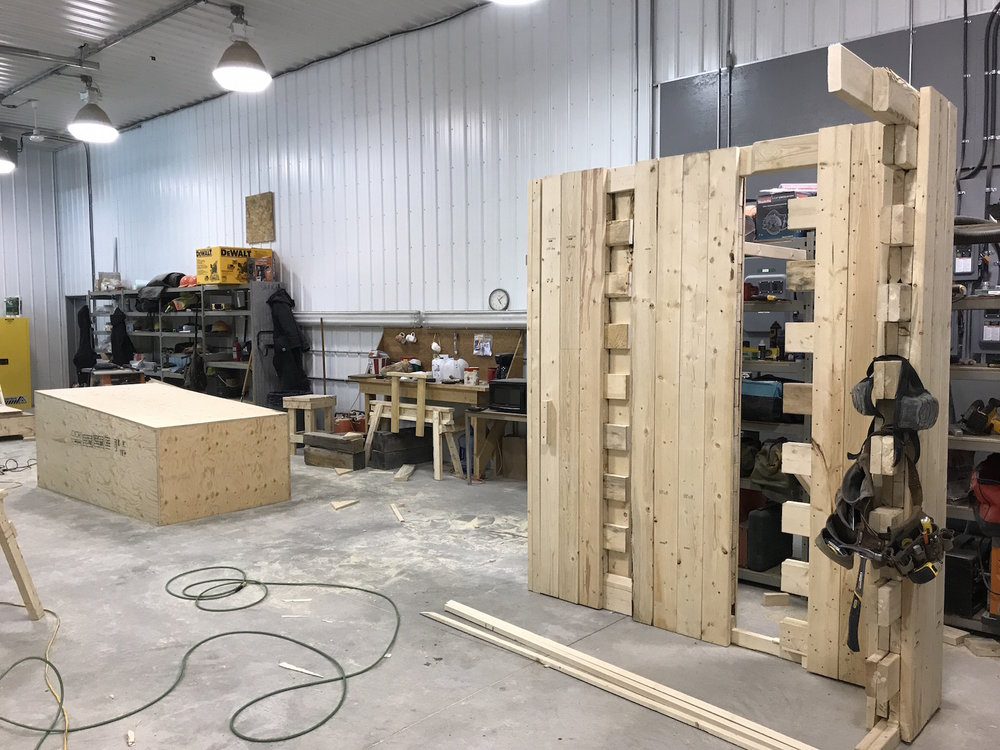 The micro-CLT panels were then tested at a 1:1 scale.