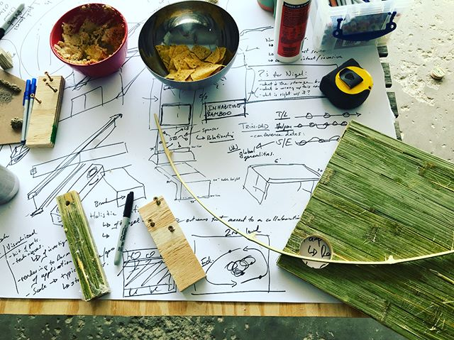 Invasive Species to Site Harvested building material. A Landbase garage design session. #landbase #sitematerials #vulgarus #bamboo #conferenceprep