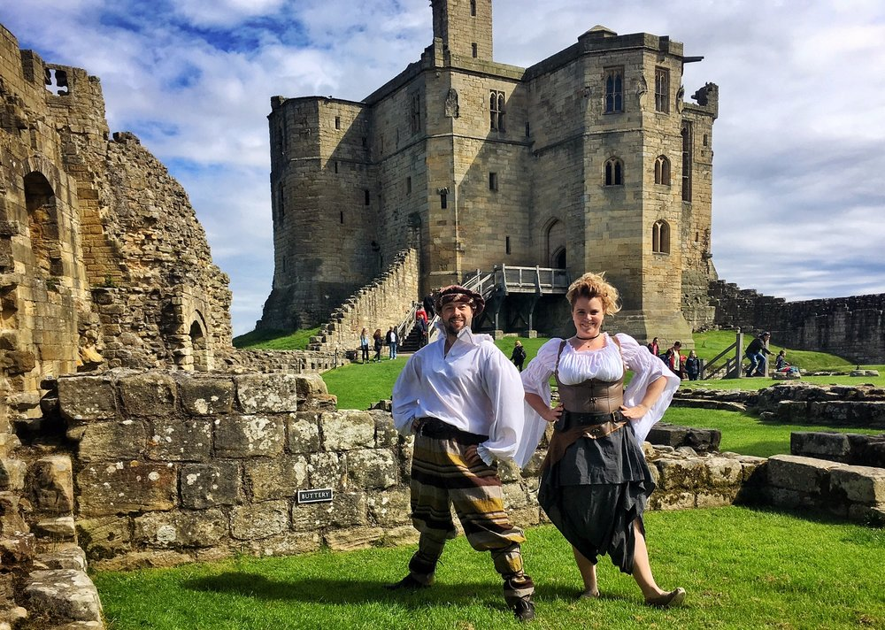 Performing at Warkworth Castle during their Myths & Legends Season, English Heritage, Summer 2017