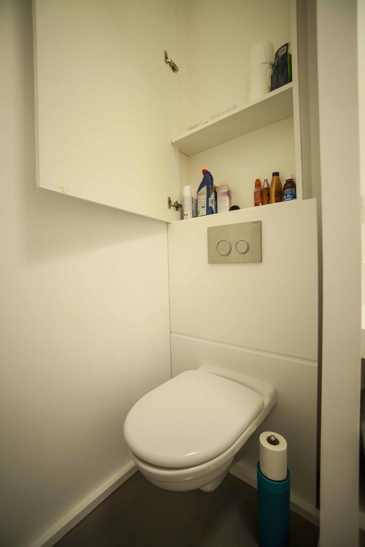 Aménagement WC en médium