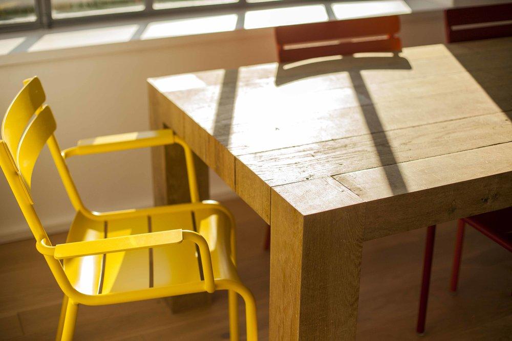Table en parquet chêne