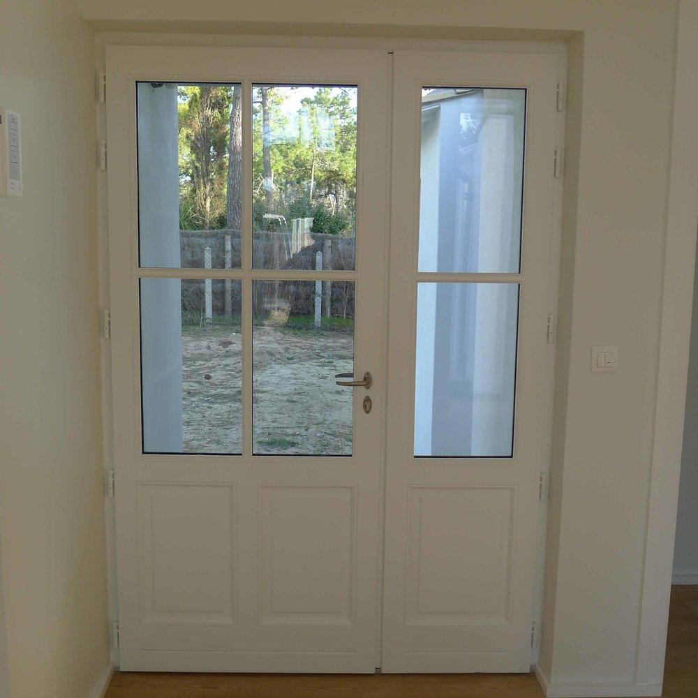 Porte bois tiercée vue intérieure