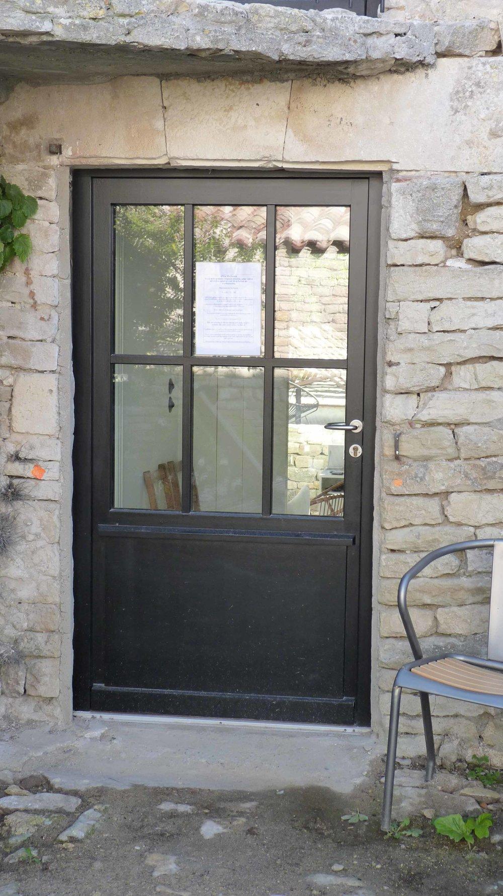 Porte bois 1 vantail sans moulure