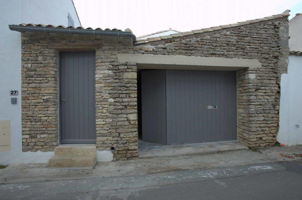 Portail de garage coulissant