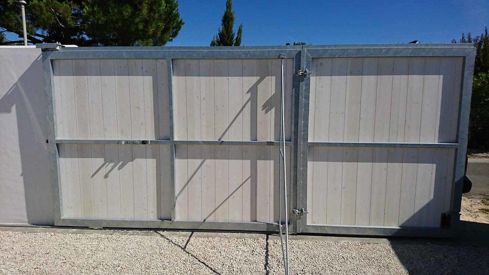 Portail de clôture coulissant