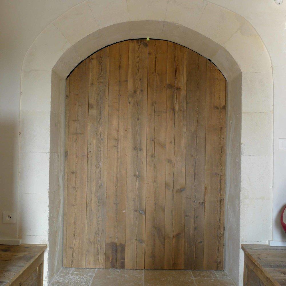Porte en bois de récupération