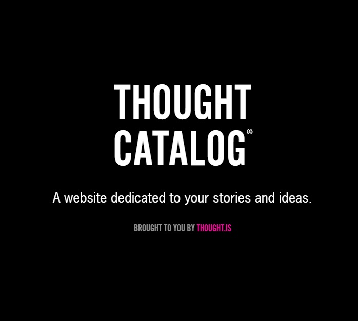 site dating Thought catalog