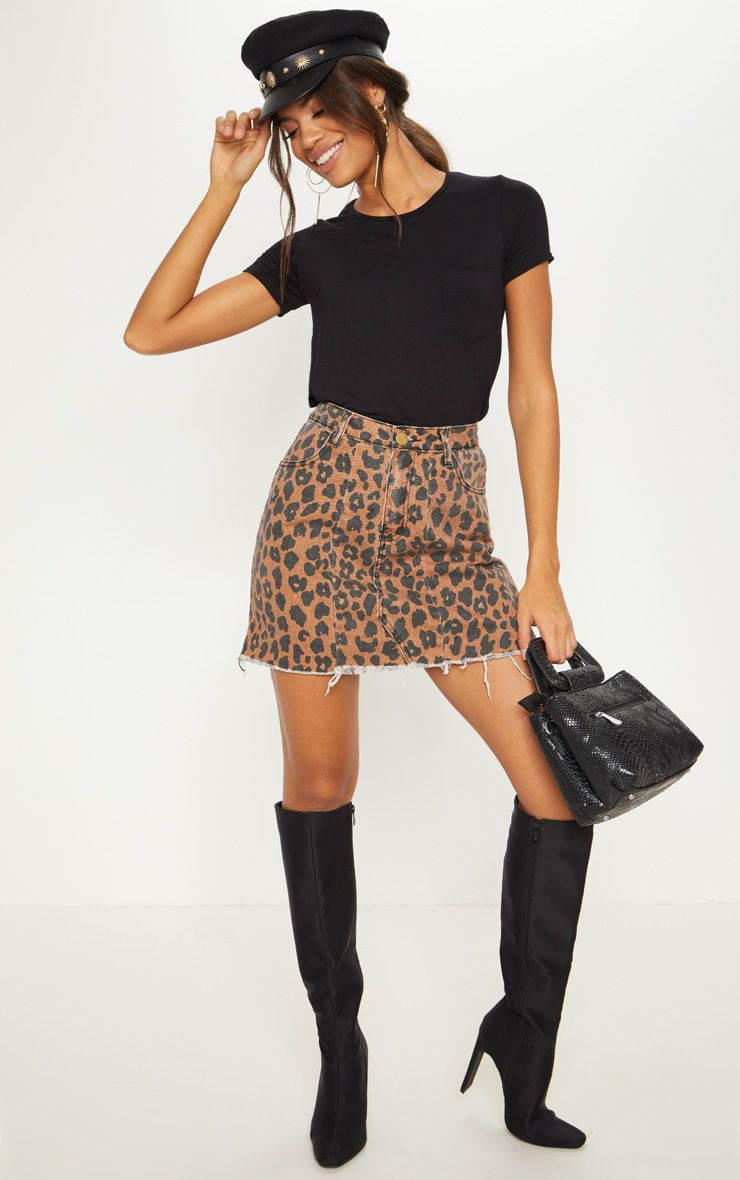 Leopard print skirt AW18/19 Autumn Trends from Pretty Little Thing