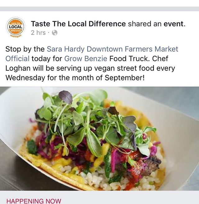 Traverse City followers every Wednesday this month you can find @chefloghancall and the @growbenziefoodtruck at @sarahardyfarmersmarket for vegan brunch. His food will make you reconsider what you think plant-based food means. Grab a friend and head out for a mid-week brunch. Treat yo self! @tastethelocaldifference @cityoftc @traversecitytourism  #vegan #plantbased #brunch #treatyoself #traversecity #foodie #puremixhigan #michigan