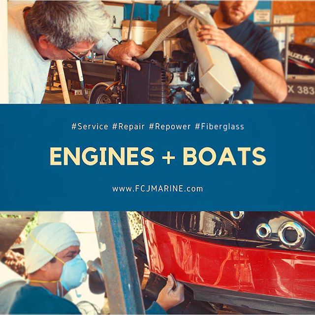 FCJ MARINE is your complete outboard and inboard services,repair and re-power facility. We also work on Fiber glass and other customwork. Visit or call us!! Link, address and phone number on description. ⚓️ ⚓️ ⚓️ #Service #Repair #Repower #Fiberglass #FCJMARINE #FCJBOATS