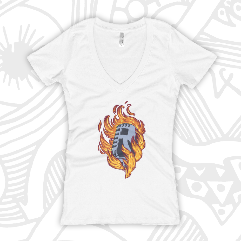 MIC-ON-FIRE--GIRL-VNECK-WHITE-TEE.png