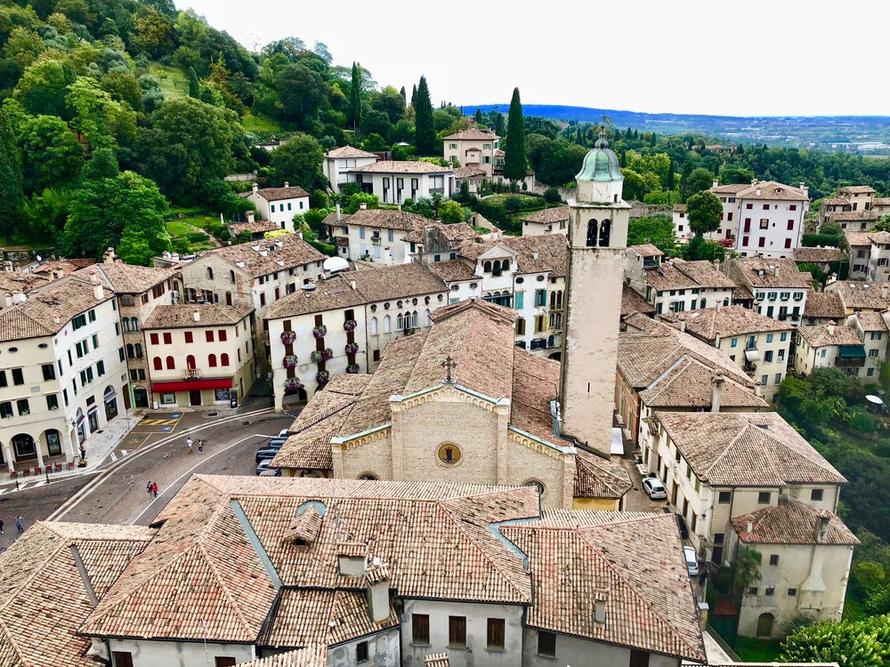 Asolo from the castle tower